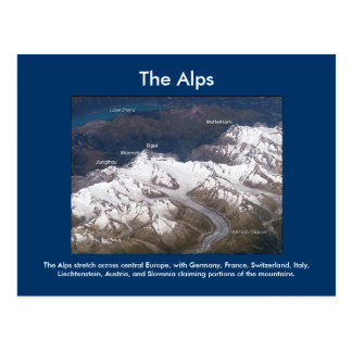The Alps From Space Postcard
