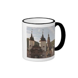 The Alte Brucke in Old Town, Heidelberg, Germany Ringer Mug