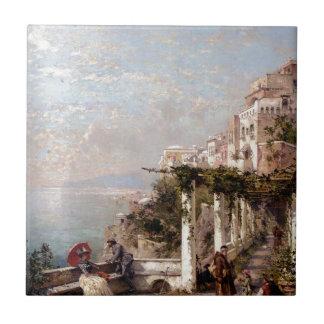 The Amalfi Coast by Franz Richard Unterberger Tile