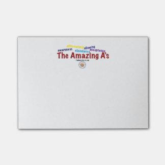 The Amazing A's sticky note