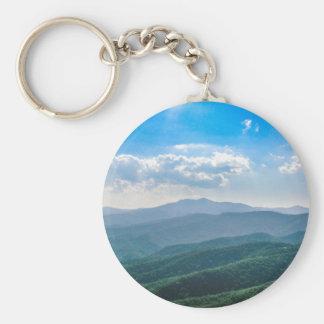 The Amazing Blue-Ridge Basic Round Button Key Ring