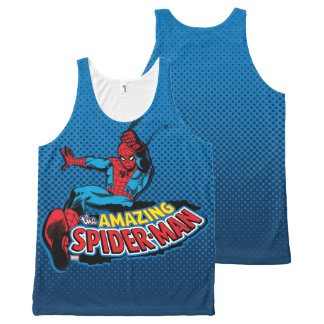The Amazing Spider-Man Logo All-Over Print Tank Top