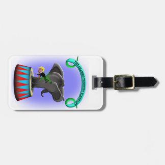 the amazing trumping elephant luggage tag