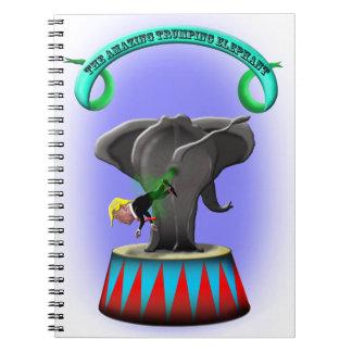 the amazing trumping elephant notebook