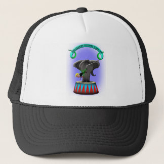 the amazing trumping elephant trucker hat
