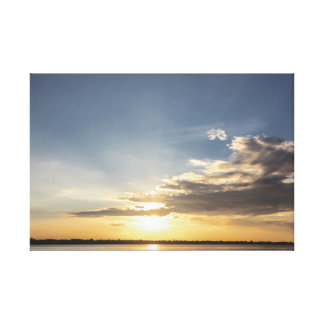 The Amazon landscapes - Black Rio Canvas Print