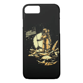 The American Astronaut Glossy Phone Case