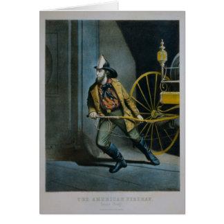 The American Fireman. Greeting Card