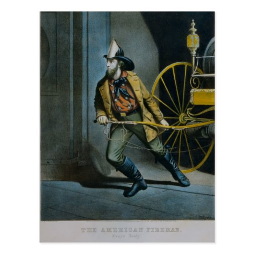 The American Fireman. Post Card