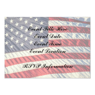 The American Flag 13 Cm X 18 Cm Invitation Card