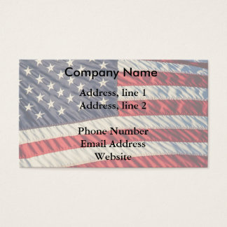 The American Flag Business Card