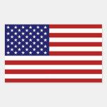 The American Flag Rectangular Sticker