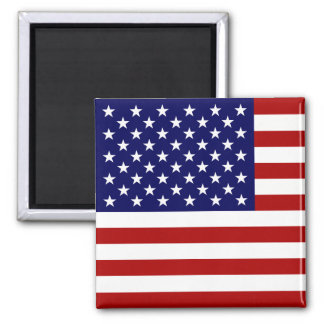 The American Flag Square Magnet