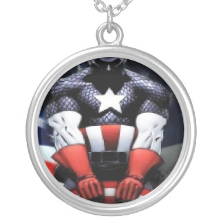 , the american hero round pendant necklace