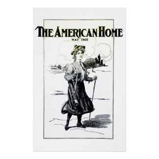 The American Home - Large 1905 Golf Print