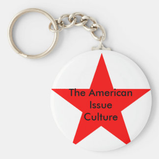 The American Issue Culture Star Red Keychains