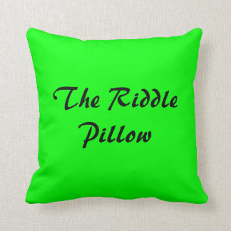 The American MoJo Riddle Pillow Cushions