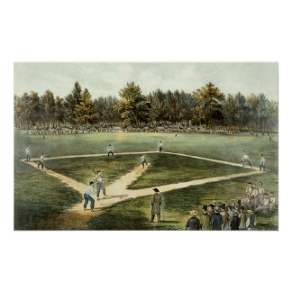 The American National Game of Baseball Poster