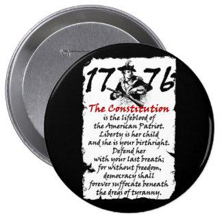 The American Patriot 10 Cm Round Badge
