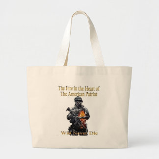 The American Patriot clothing line Large Tote Bag