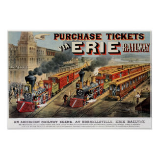 The American Railway Scene at Hornellsville Poster