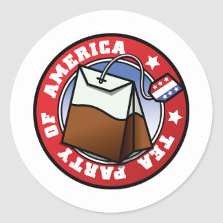 The American Tea Party Round Sticker