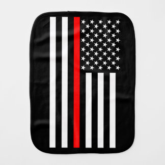 The American Thin Red Line Symbol Burp Cloth