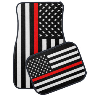 The American Thin Red Line Symbol on a Car Mat