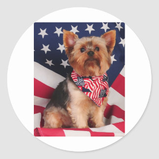 The American Yorkie Classic Round Sticker