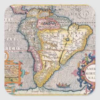 The Americas 5 Square Sticker