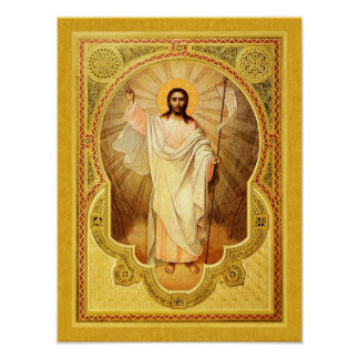 The Anastasis - Christ is risen! Icon Poster
