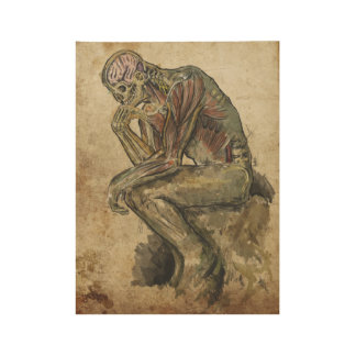 The anatomical thinker wood poster