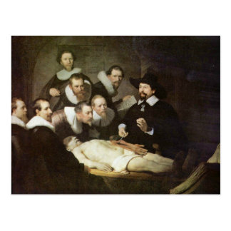 The Anatomy Lesson Of Dr. Nicolaes Tulp. Postcard