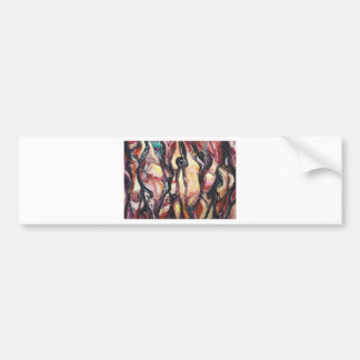 The Ancient Astronauts(abstract expressionism) Bumper Sticker