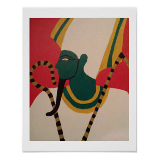 The Ancient Egyptian Deity Ausar Poster