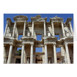 The Ancient Library of Celsus - Ephesus, Turkey Card