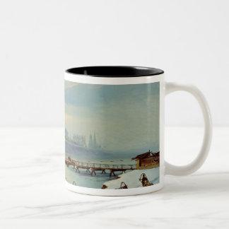 The Angara Embankment in Irkutsk, 1886 Two-Tone Coffee Mug