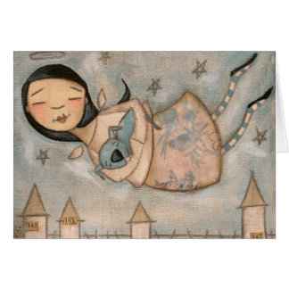The Angel and the Blue Dog - Notecards Card