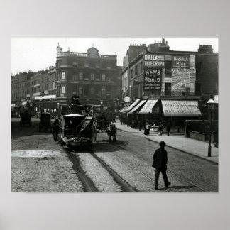 The Angel, Islington, London, c.1890 Poster