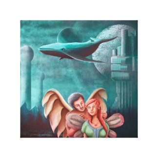 The Angel Necklace And The Princess Fairy Canvas Print
