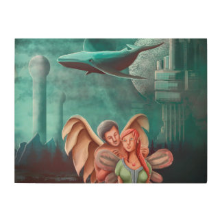 The Angel Necklace And The Princess Fairy Wood Canvases