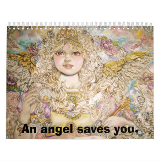 The angel of the Golden pearl., An angel saves ... Wall Calendar