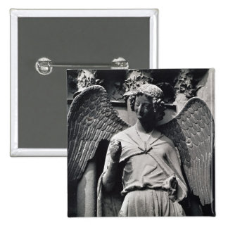 The Angel with a Smile 15 Cm Square Badge