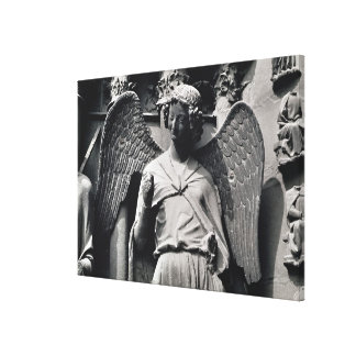 The Angel with a Smile Stretched Canvas Print