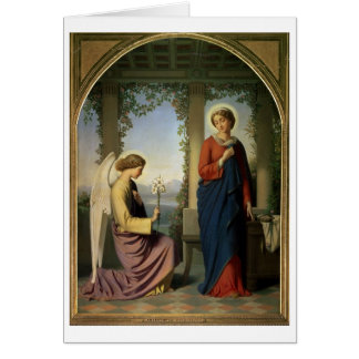 The Angelic Salutation, or The Annunciation, 1860 Card