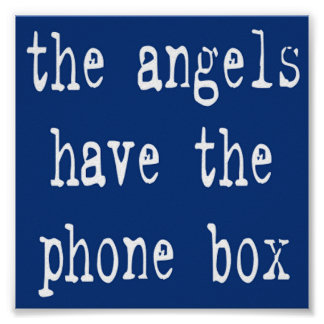 The Angels Have the Phone Box 6x6 Square Print