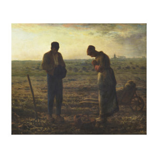 The Angelus by Jean-François Millet Canvas Print