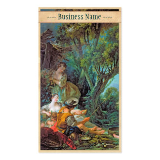 The Angler  Boucher Francois rococo scene painting Pack Of Standard Business Cards