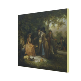 The Anglers' Repast by George Morland Canvas Print