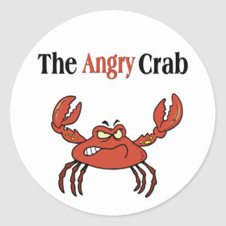 The Angry Crab Classic Round Sticker